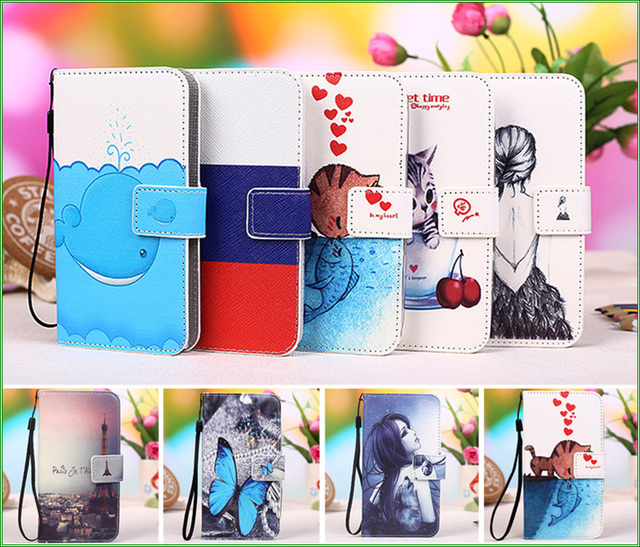 For Micromax Q380 Case, New Colourful PU Leather Cover Case For Micromax Canvas Spark Q380 Kitty Owl Pattern Phone Cover