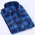 2017 Весна стиль толстая slim fit повседневный высокое качество моде классические palid casual male блузки/топы