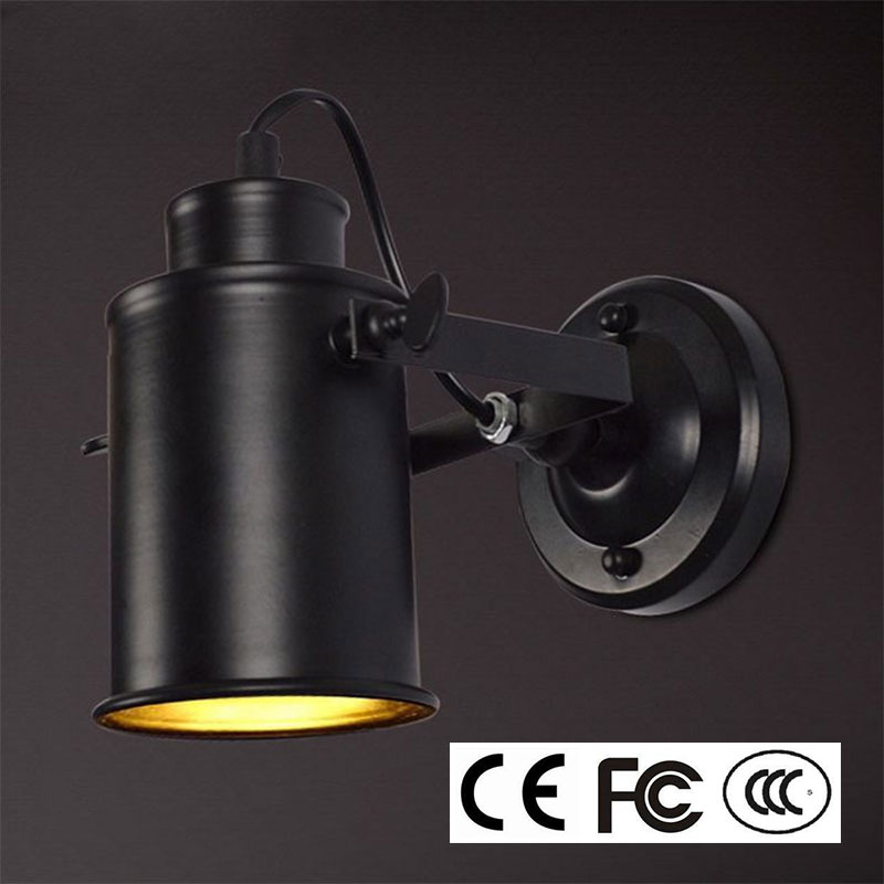 Image 3 - Wall Lamp Retro Industrial wall Light adjustable light sconce fixtures for Restaurant bedside Bar Cafe Home Lighting E27-in LED Indoor Wall Lamps from Lights & Lighting on AliExpress