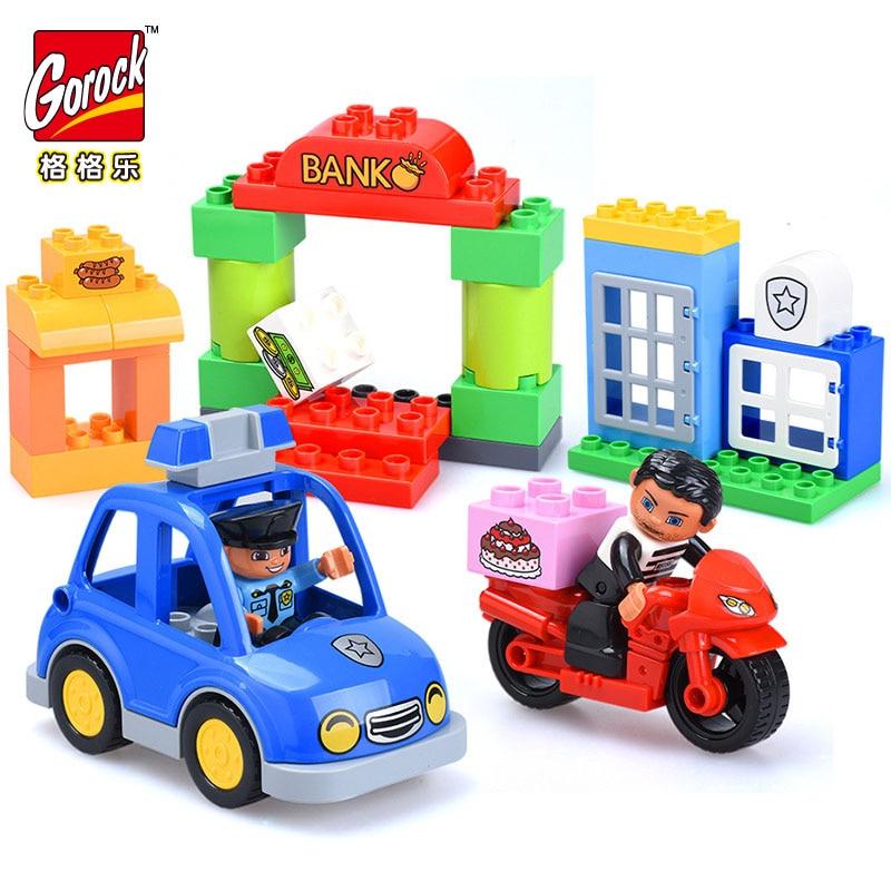 GOROCK grosses particules Police arrêté le voleur série bricolage modélisation bloc jouets meilleur bloc cadeau pour enfants cadeau d'anniversaire