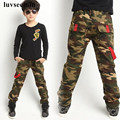 New Casual 2017 Spring Autumn Boy Camouflage Teenage Big Boys Pants Cotton Trousers Korean Pants Boys Child Kids Clothes JW2097
