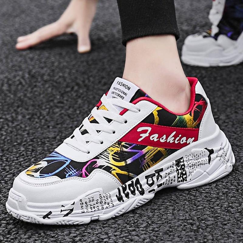 2019 KAMUCC Autumn Vintage Sneakers Men Breathable Mesh Casual Shoes Men Comfortable Fashion Tenis Masculino Adulto Sneakers