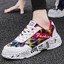 2019 KAMUCC otoño Vintage zapatillas hombres transpirable malla Casual hombres zapatos cómodos moda Zapatillas Tenis Masculino Adulto
