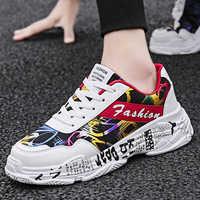 2019 KAMUCC otoño Vintage Sneakers hombres transpirable malla Casual hombres zapatos cómodos moda Tenis Masculino Adulto Sneakers