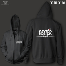 dexter slice of life zip up hoodie sweatershirt men women unisex 10.3oz weight organic cotton fleece high quality Free Shipping