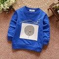 2017 Primavera Do Bebê T-shirt Das Crianças de Manga Comprida T Camisa Dos Desenhos Animados Balão Tees Roupas de Outono das Crianças 0-3 Anos Outerwear Azul