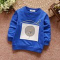 2017 Spring Baby T-shirt Children Long Sleeved T Shirt Cartoon Balloon Tees 0-3 Years Children's Clothing Autumn Outerwear Blue