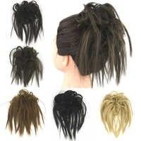 Soowee 30 kolor włosów syntetycznych blond nakrycia głowy elastyczne opaski do włosów pałąk Scrunchie przyrząd do koka z włosów akcesoria do włosów dla kobiet