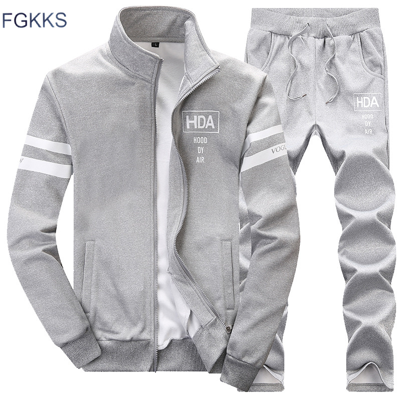 FGKKS 2019 Tracksuit Hoodies Spring Summer And Fall Men's Sportswear Tracksuit Brand Men's Clothing Tracksuit