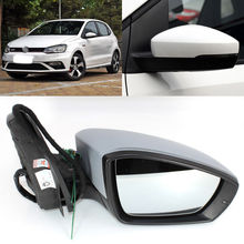Automatic Folding Power Heated Side View Mirror For VW Polo 2014-2018 цены онлайн