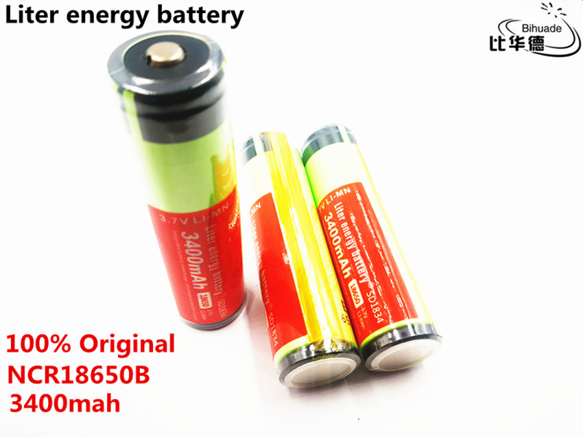 Liter energy battery <font><b>100</b></font>% New Original NCR18650B <font><b>3.7</b></font> <font><b>v</b></font> 3400 <font><b>mah</b></font> 18650 Lithium Rechargeable Battery image