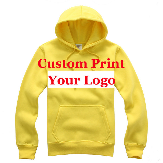 printed logo on the blank hoodies custom own logo hoodie screen printing  customized logo men s weater long sleeve! pullover 1f1e3a06c8bd
