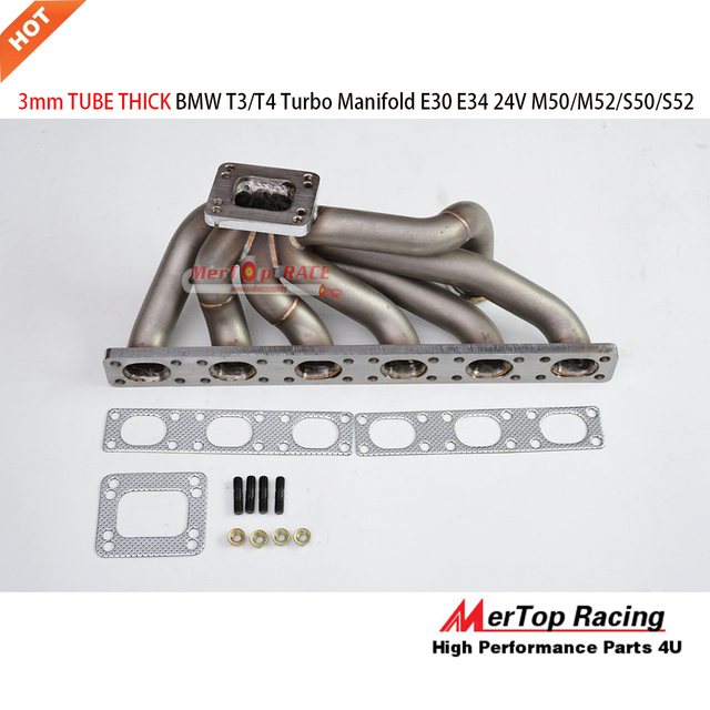 Mertop Rennen Update 3mm Dick Top Mount T3t4 Turbo Manifold Für Bmw