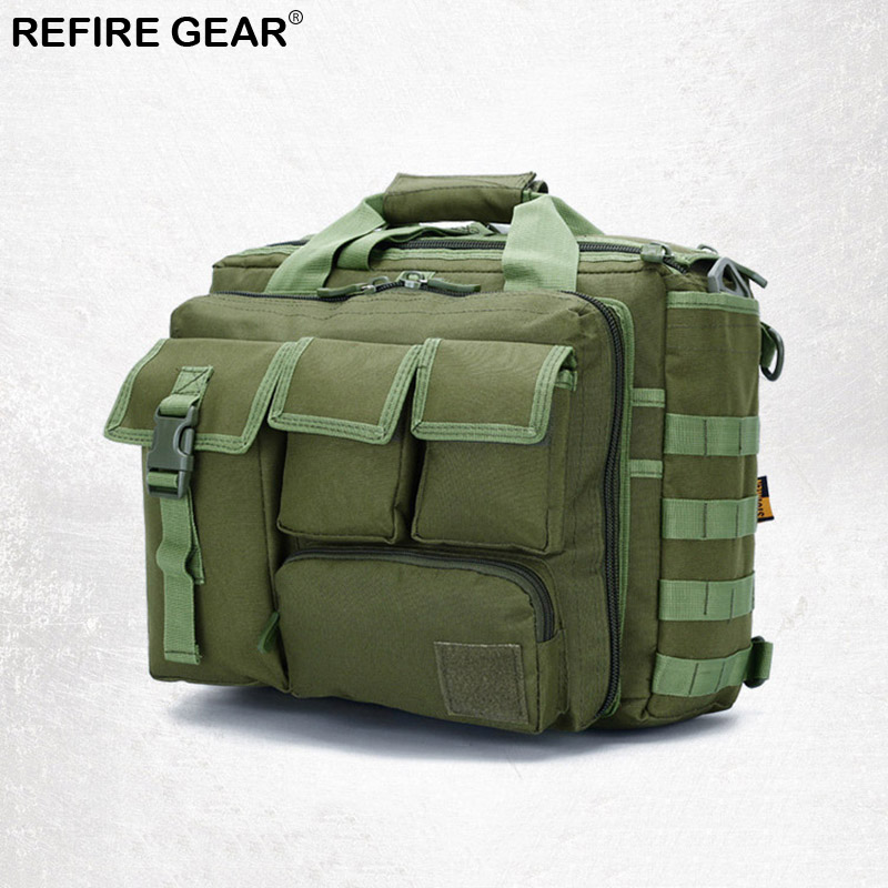 Refire Gear Outdoor Men Briefcase Bag Nylon Durable Hiking Camping Bags Man Camouflage L ...