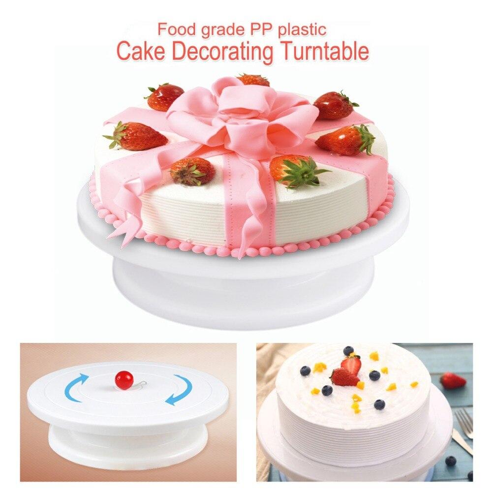 28cm Plastic Cake Turntable Rotating Cake Decorating ...