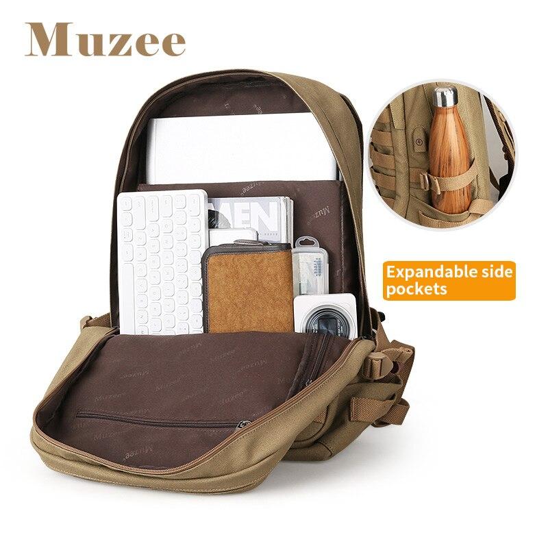 Muzee sac à dos pour ordinateur portable hommes avec USB sac à dos de charge grand sac de voyage hommes sac à dos de mode convient à 15.6 pouces - 4