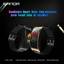 SANDA CK11 Leather Smart Watch for IOS Android Men Women IP67 Waterproof Bluetooth Remote Camera Heart Rate Monitor Smartwatch ck11