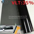 Cheapest VLT 35% 50x300 CM/Lot Negro Car Window Tint Film Vidrio 1 CAPAS Coche Automático Casa Comercial Solar Tinte de la ventana Lateral película