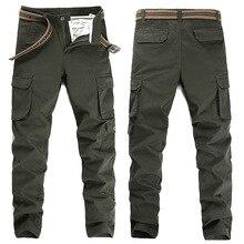 Easy straight straight men's overalls fashion sports and leisure Slim pocket pants military uniform stretch fabric trousers men цены онлайн