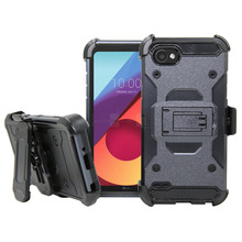 Case For LG Q6 Heavy Duty Hybrid Rugged Case With Kickstand Belt Clip Holster Shockproof Tough Phone Cover For LG Q6 / Q6 Mini waterproof rugged mobile device protection holster case with clip