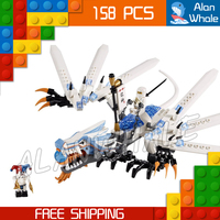 158pcs Bela 9729 Phantom Ninja Ice Dragon Attack Building Blocks Model Toys Minifigures Armour Bricks Kits