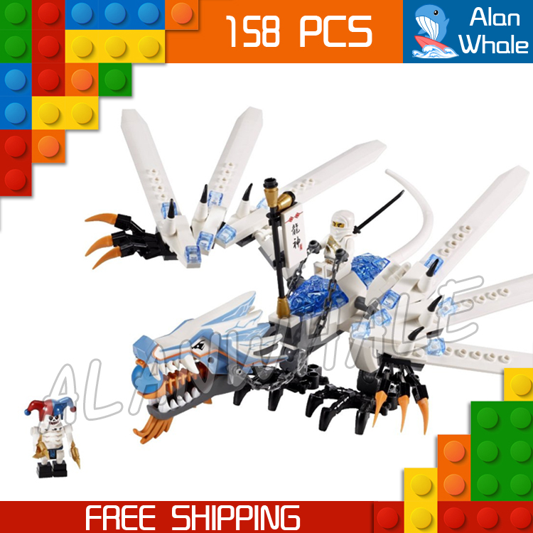 158pcs Bela 9729 Ninja Ice Dragon Attack Building Blocks Model Toys Armour Bricks kits Compatible With lego bela hero factory brain attack pyrox model building blocks action 3d diy bricks toys compatible with lego