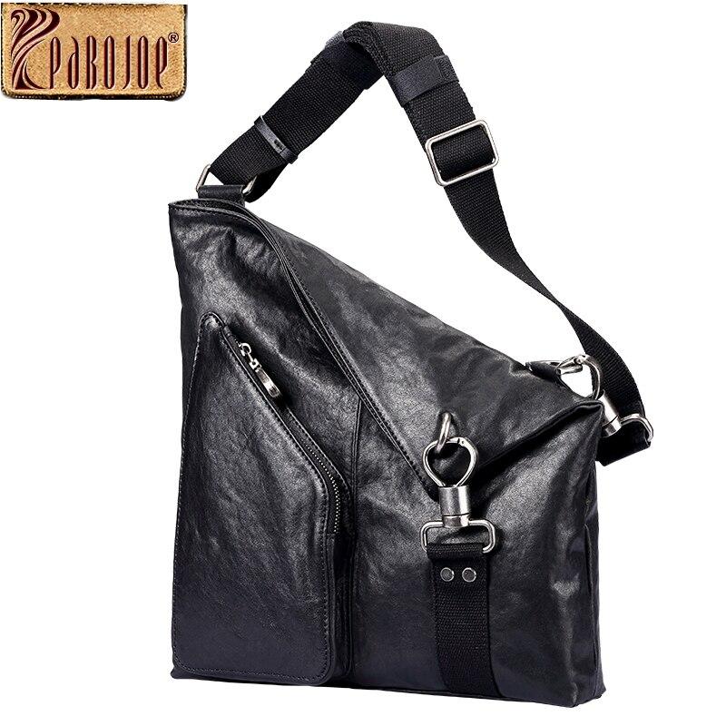 Pabojoe Mens Messenger Bags Italian Imported Genuine Leather Big Capacity Zipper Crossbody Shoulder Bags Travel Holder pabojoe women mens school backpack italian 100