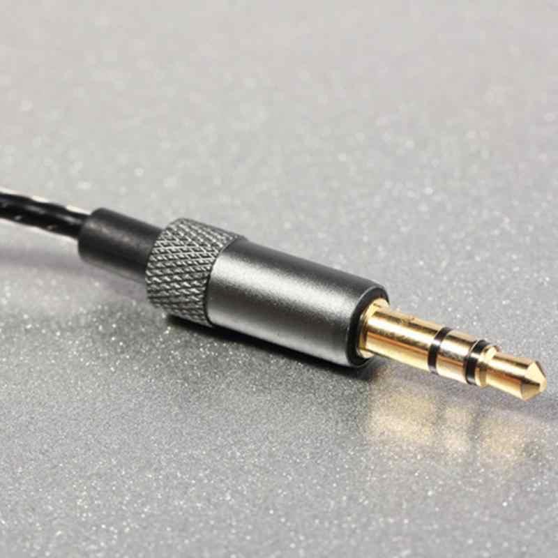2020 جديد 1.2 متر عالية كوليتي الفضة سلك نحاسي مغلف سماعة صيانة سلك DIY بها بنفسك استبدال سماعة كابل 3.5 مللي متر الصوت كابل