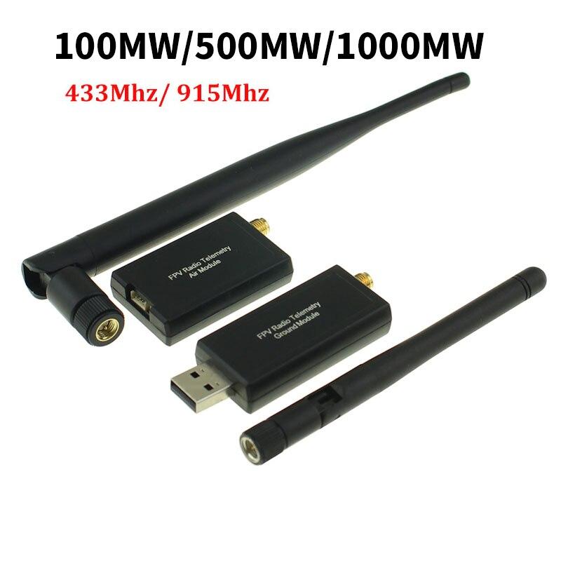3DR Radiotelemetria 100MW 500MW 1000MW 915Mhz 433Mhz Módulo De Transmissão de Dados do Solo e do Ar Para APM 2.6 2.8 Pixhawk Flight Control