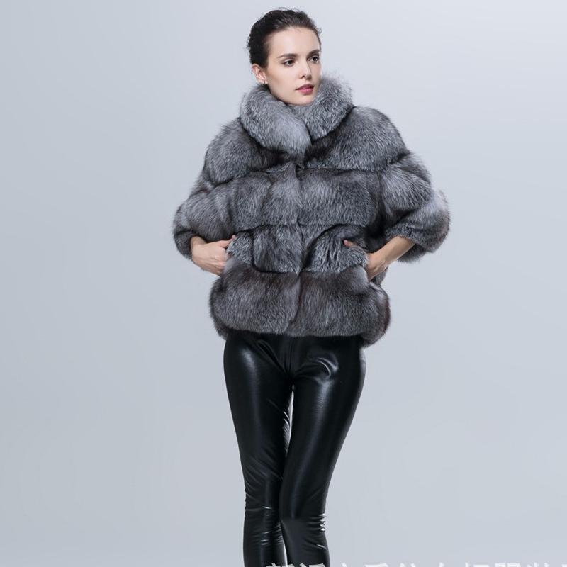 Gris Court En Slim Femmes De 2018 Fausse Mode Manteau Hiver Nouvelle Fabricants Fourrure Couture 4Ozq86