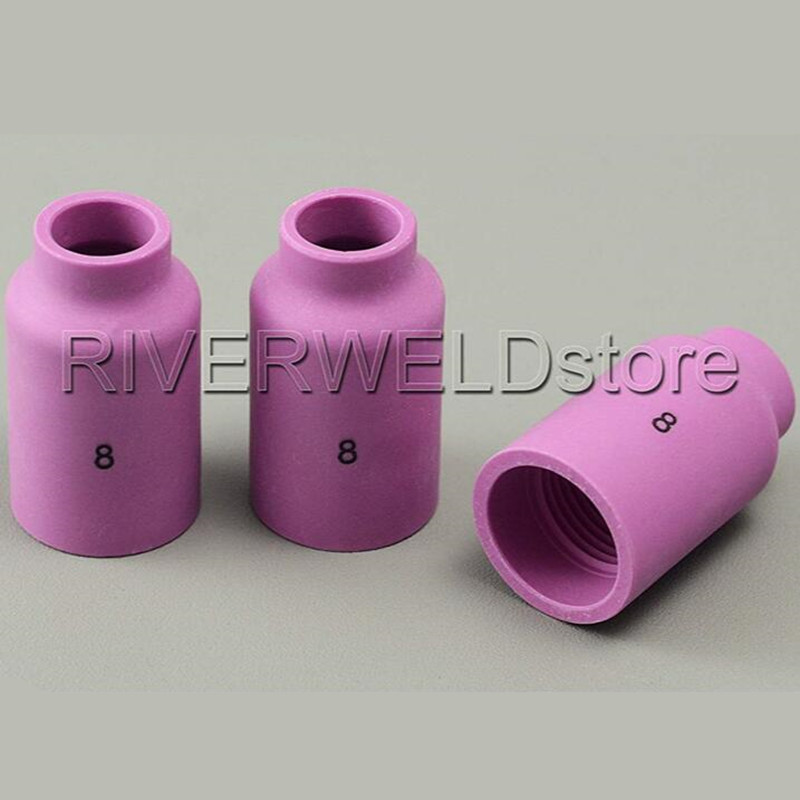 TIG Alumina Nozzle Gas Lens 54N14 #8 Fit TIG Welding Torch Accessories SR PTA DB WP 17 18 26 Series tig 26 wp 26 wp26 wp 26 tig 26 tig welding torch dinse connection quick connector gas electric seperated 4m