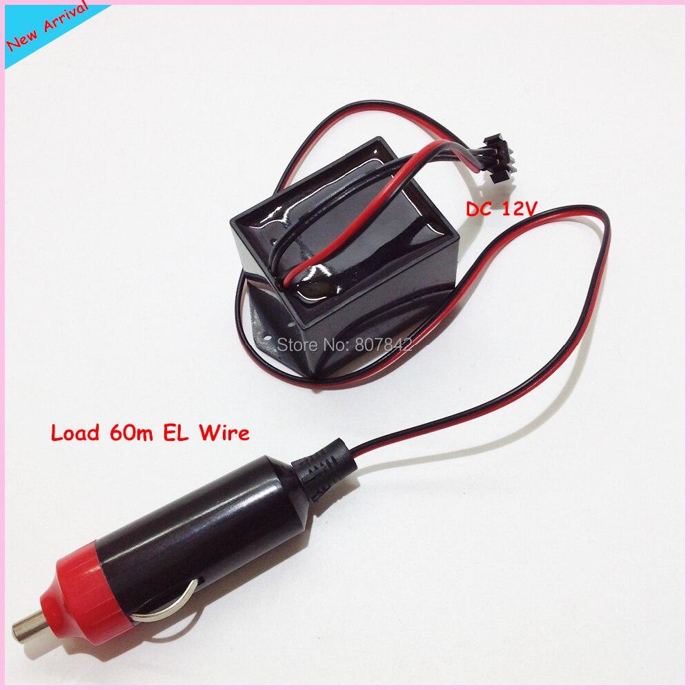 New Load 60m EL Wire Car Neon Light Driver,Output 110V Mini EL Cable ...