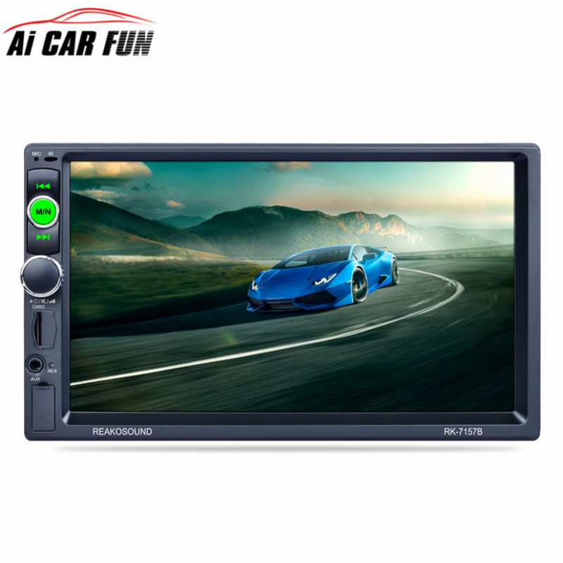 RK-7157B 7inch 2DIN Car Bluetooth MP5 Player FM/AM/RDS Radio Tuner Car Radio Media Player with Rear View Camera Function Remote цены онлайн