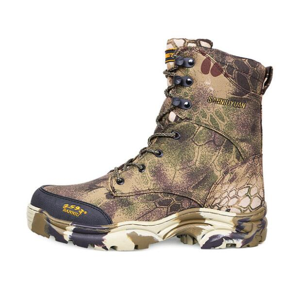 Spring Autumn non-slip wear-resistant Oxford hunting boots bionic camouflage Breathable outdoor fishing hiking camping Tactical