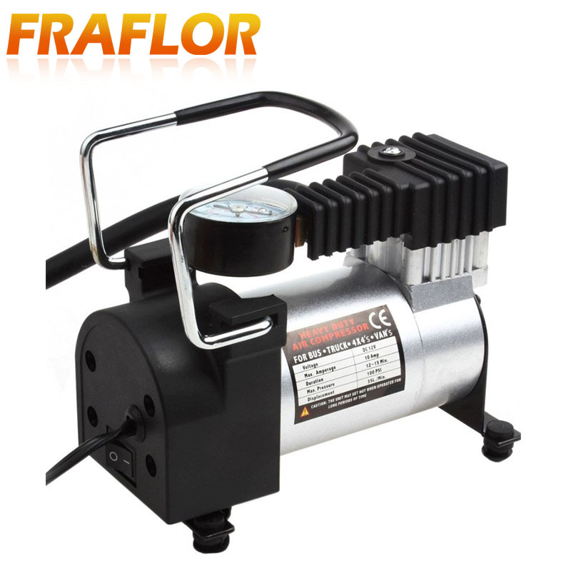 Battery Clip Car Electric Air Compressor Heavy Duty 150 PSI Tire Inflator Pump