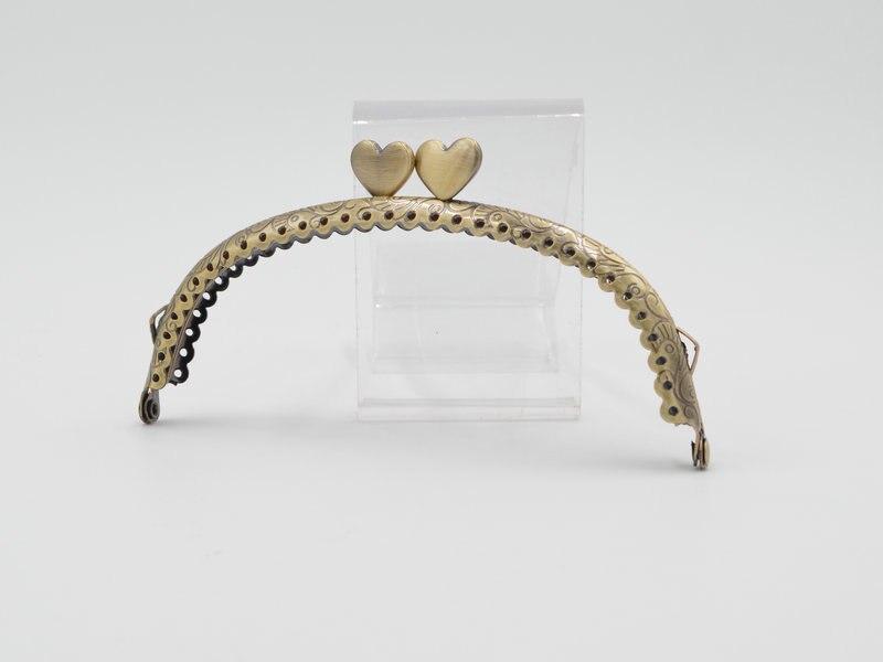 12.5cm Metal Purse Frame Handle for Clutch Bag Handbag Accessories Making Kiss Clasp Lock Antique Bronze (6)