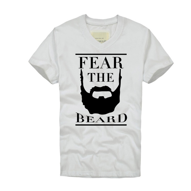 7f887995902b 1 Fear the Beard Fashion Design T shirt Print James Harden Mens Womens V  neck T Shirt Custom Camisetas Hombre Breathable Fabric-in T-Shirts from  Men s ...