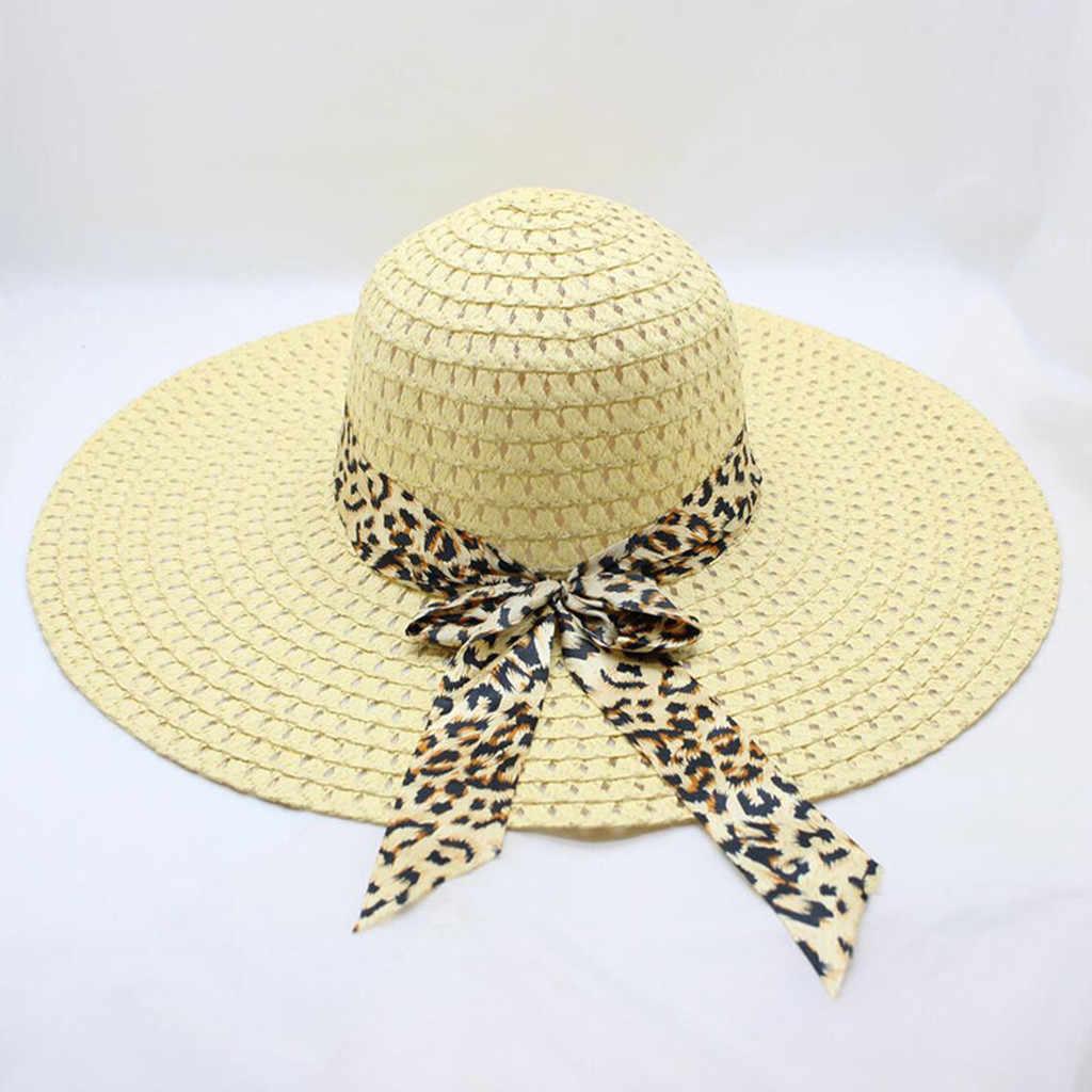 45f6ac7b1176f ... 2019 New Summer Female Sun Hat Bow Ribbon Panama Beach Hats for Women  Chapeu Feminino Sombrero ...