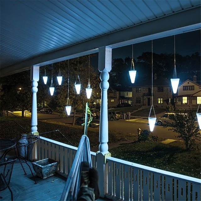 Hanging Outdoor Lights Without Trees: Solar LED Tree Hanging Lights Color Changing Balcony