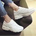Женщины Повседневная Обувь Мода Кроссовки Летние Клинья Холст Обувь на Шнуровке Tenis Женская Обувь Бренда Chaussure Femme Нет Логотипа