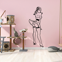 Free shipping sexy lady Self Adhesive Vinyl Waterproof Wall Art Decal For Living Room Bedroom Background Wall Art Decal free shipping dancing self adhesive vinyl waterproof wall decal for kids room decoration waterproof wall art decal naklejki
