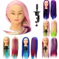 1PC Sale 4 colors MixedHairdressing Training Practice Mannequin Head With A Free Clamp Holder for Salon Braiding Practice