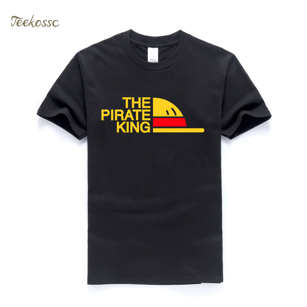 New Brand One Piece   T  -  Shirt   Men The Pirate King   T     Shirt   Mens Luffy Tshirt Summer Tees Japanese Anime Cotton Short Sleeve Men's