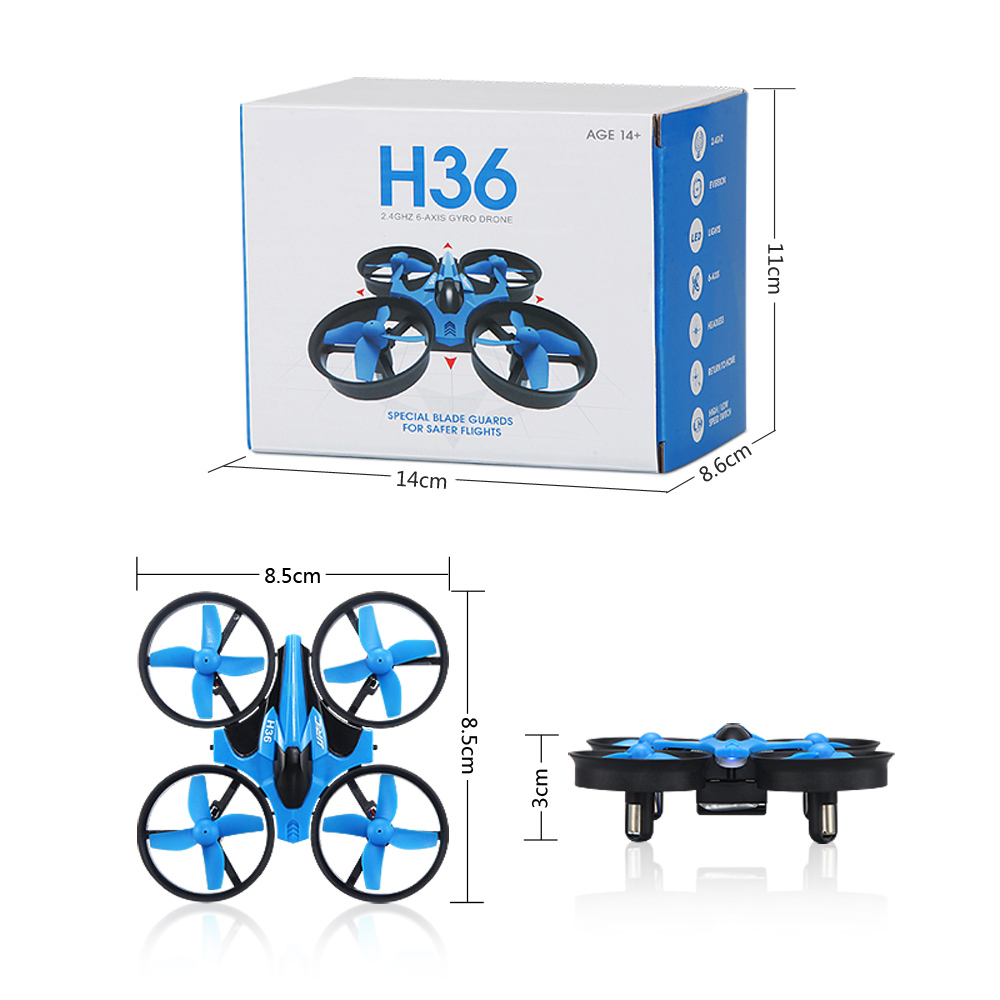Mini RC Drone Quadcopter Headless Mode One Key Return RC Hel