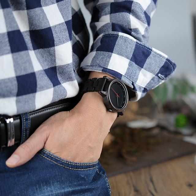 Bobo Bird Brand Wooden Elegant Men Quartz Watches 4