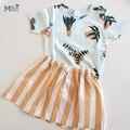 Kikikids falda de las muchachas de orange pequeña falda de algodón niños niñas ropa de verano para niños marca bobo choses infante falda