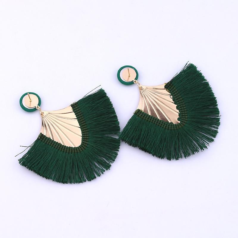 XZP 2019 Tassel Earrings Bohemian Big Long Women Handmade Vintage Statement Luxury Fashion Statement Earring Jewelry For Ethnic in Drop Earrings from Jewelry Accessories