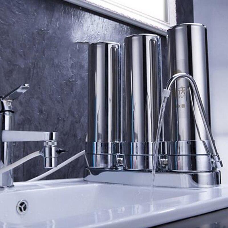 High Quality 3 Garde 304 Stainless Steel Water Filter Ultrafiltration Water Purifier недорго, оригинальная цена