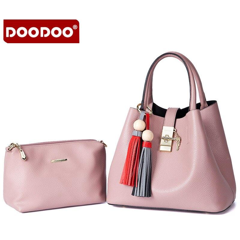 DOODOO 2016 Women Genuine Leather Handbags Crossbody Famous Brands Designer Handbags High Quality Tote Bag Bolsa Femininas  T468