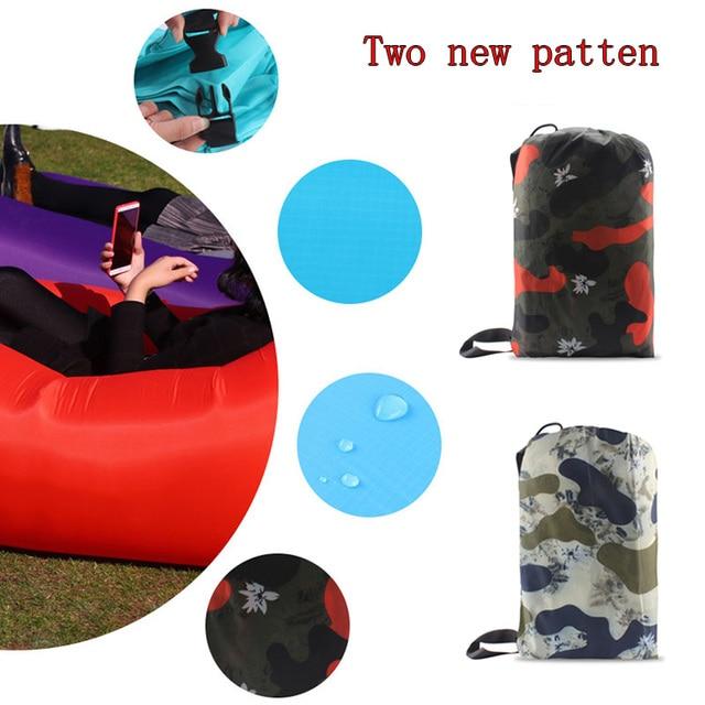 210T Ripstop outdoor air sofa laybag Inflatable Air Sleep bag  Portable Beach Sofa Lounge Banana Sleeping bags Camping lazy bag